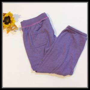 PINK Victoria's Secret Purple Capri Sweats w Heart